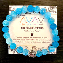 "Load image into Gallery viewer, ""The Four Elements"" Paw Bracelet: Water"