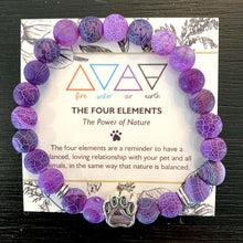 "Load image into Gallery viewer, ""The Four Elements"" Paw Bracelet: Air"