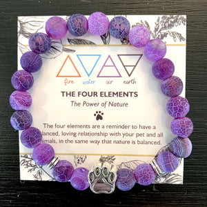 """The Four Elements"" Paw Bracelet: Air"