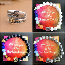 "Load image into Gallery viewer, ""Over The Rainbow Bridge"" Bracelets & Angel Ring Bundle"