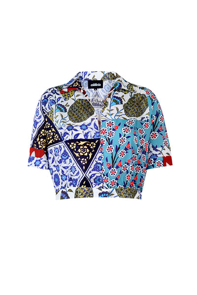MOSAIC CROPPED SHIRT