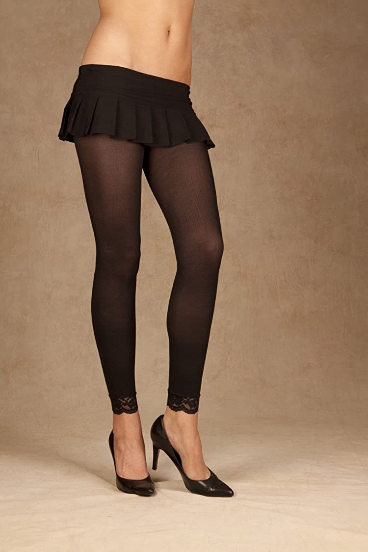 Leggings with Lace Trim Plus Size
