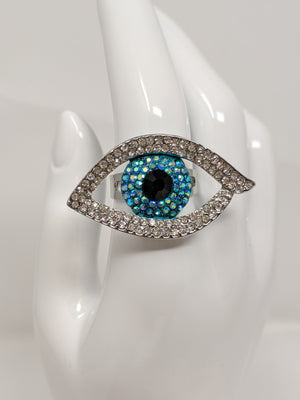 Evil Eye Rhinestone Ring