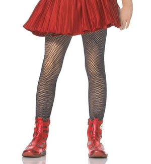 Girl's Black Fishnet Tights