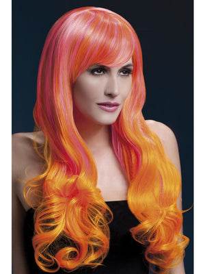 Emily Professional Wig Pink & Orange