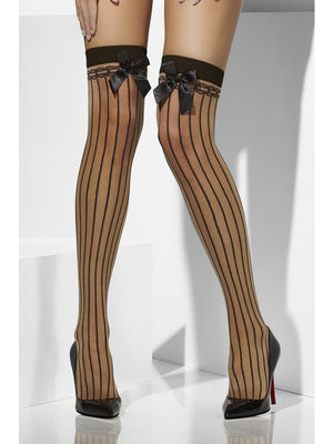 Vertical Stripes & Bows Hold-Ups