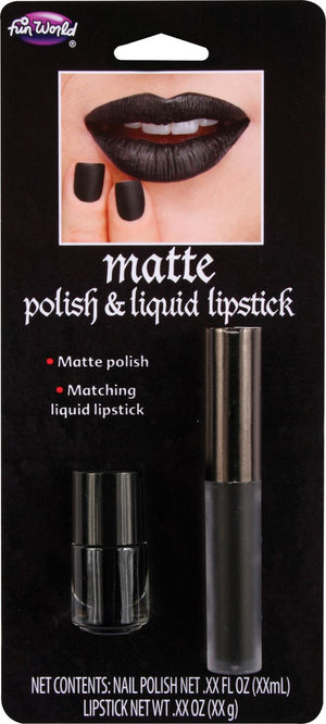 Matte Polish & Liquid Lipstick - Black