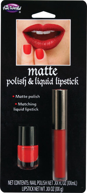 Matte Polish & Liquid Lipstick - Red