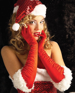 Sexy Miss Santa Gloves