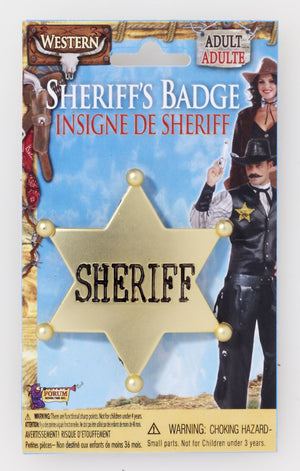 Sheriff's Badge Gold