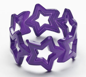 Neon Purple Star Bangle