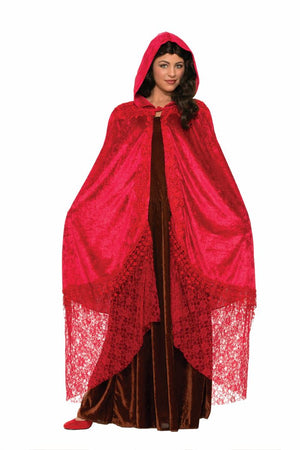 Ruby Red Medieval Fantasy Cape