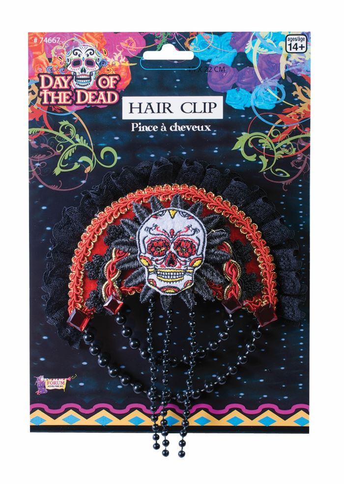 Day of the Dead Hair Clip