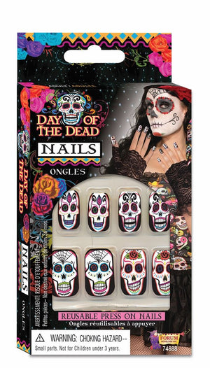 Day of the Dead Press-On Nails