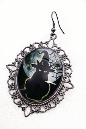 Cameo Cat Earrings