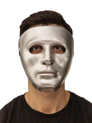 Blank Face Silver Mask