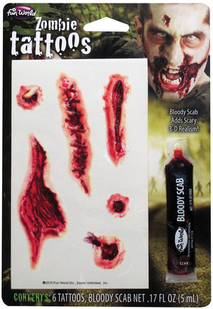 Zombie Tattoos Makeup Kit