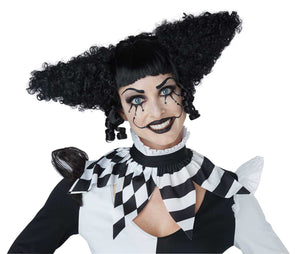 Creepy Clown Black Wig