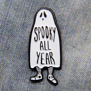 Spooky All Year Ghost Enamel Pin