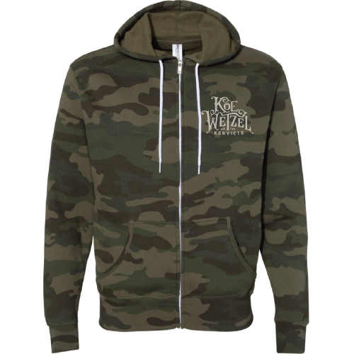 Men's Camo Zip Up Hoodie