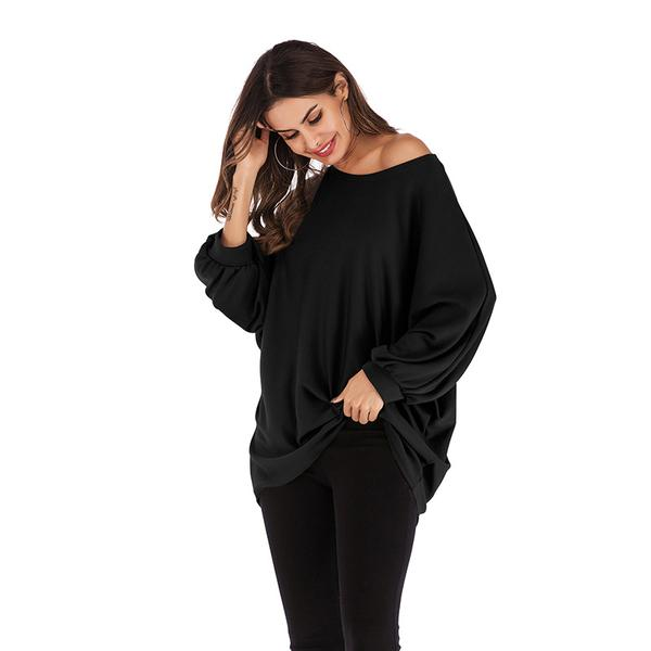 Pull over Women Spring Blouse Bat Long Sleeves Knit Sweater