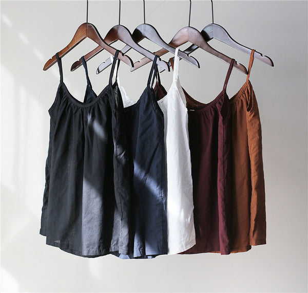Organic Combed Washed Cotton Loose Strap Tanks