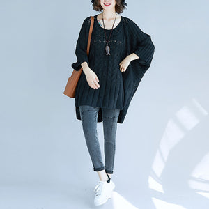Batwing Sleeve Loose Oversized Pullover Knit Sweater