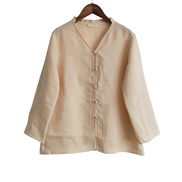 SALE Folk linen shirt cardigan