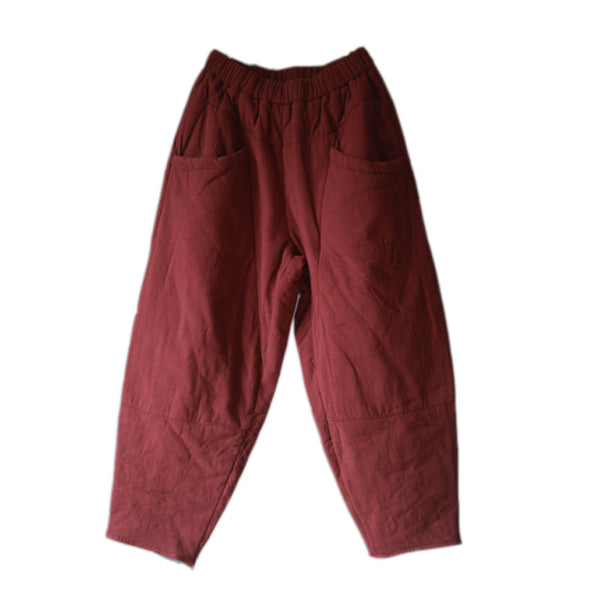 AW Cotton padded warm splicing cotton pants