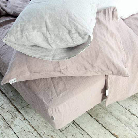 Softened linen pillowcase Stonewashed bed pillow covers