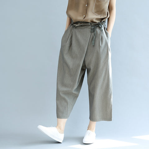 Loungewear Loose Cross-body Drop Crotch Harem Pants