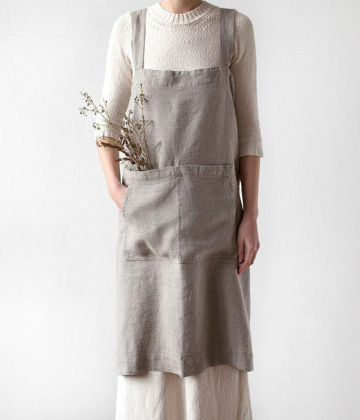 Natural linen body aprons