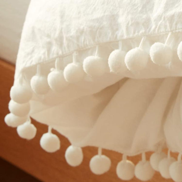 Simple lovely balls washing cotton covered four sheet set