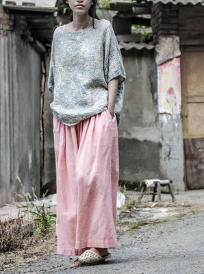 Original New Wide Leg Linen Pants Casual Loose  Harem Pants