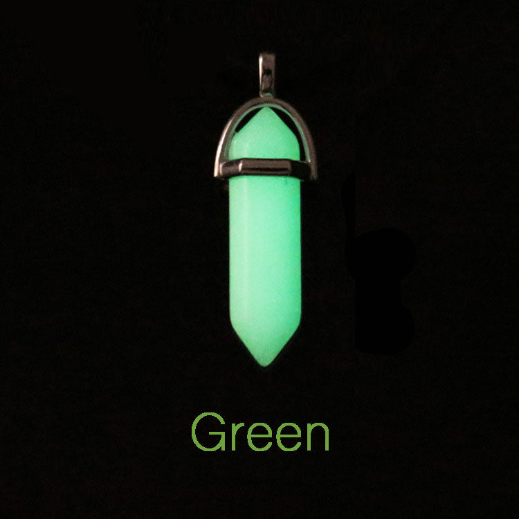 Luminous Crystal Bullet Pendant Necklace