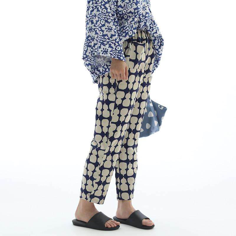 organic cotton print turnip pants