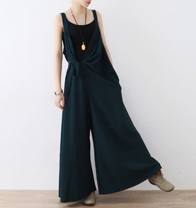 60ee78ffc39 2019 Women Spring Summer Black Jumpsuit - Linen big sale