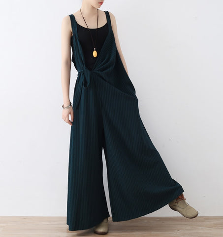 2019 Women Spring Summer Black Jumpsuit Baggy Pants