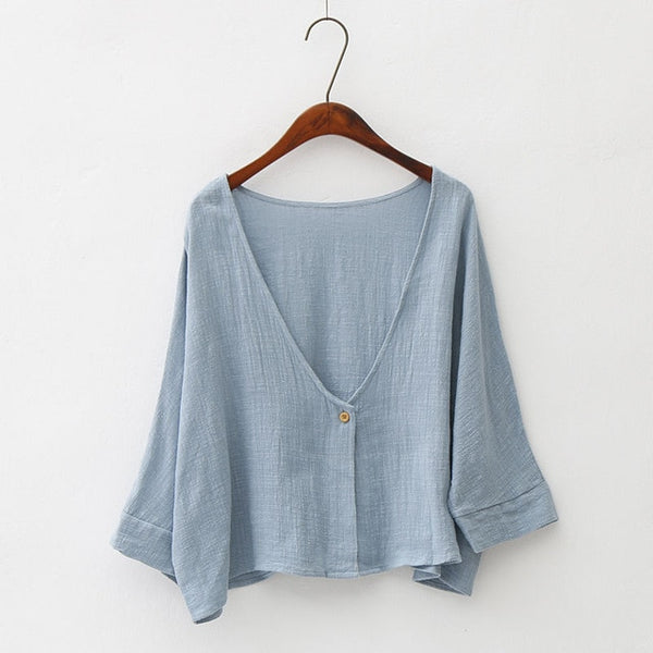 2019 Spring Summer Fashion Plus Size Clothing Short Cardigans - Linen big sale