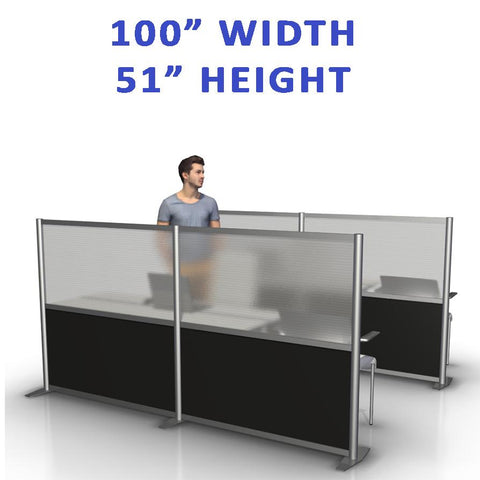 "100"" width by 51"" height office partitions products collection"