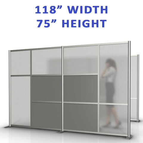 "118"" width by 75"" height office partitions products collection"