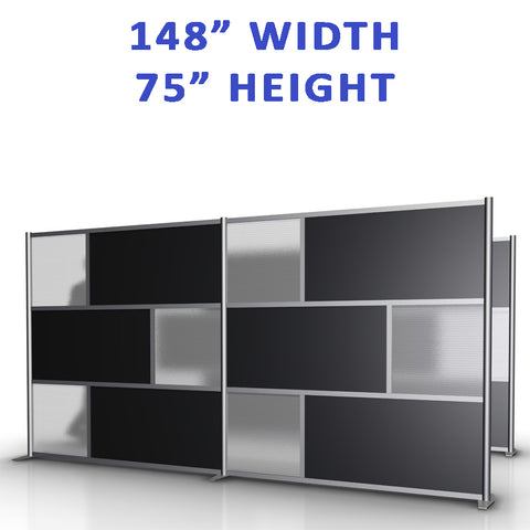 "148"" width by 75"" height office partitions products collection"