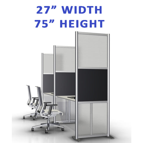 "27"" width office partitions product collection"