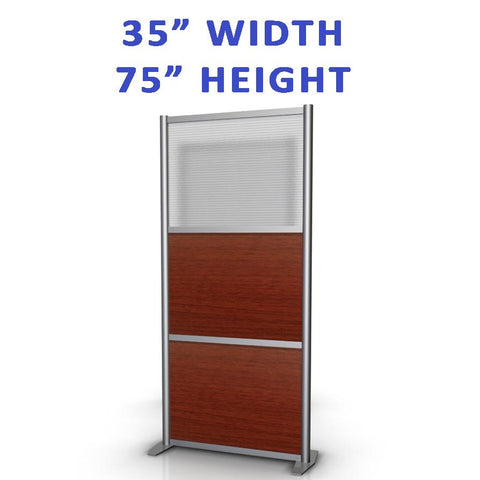 "35"" width office and Medical partitions product collection"