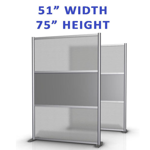 "51"" width office partitions product collection"