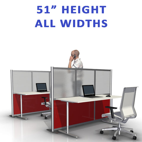 51' height office partitions products collection