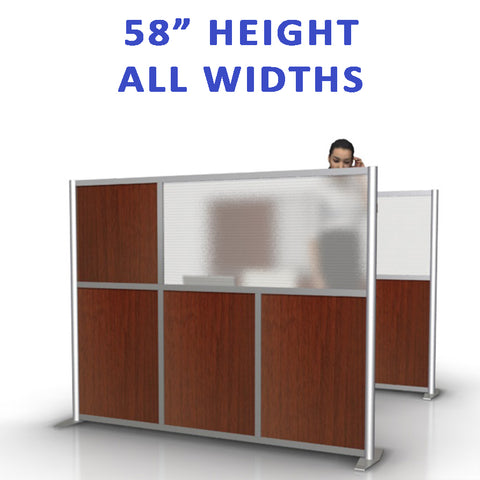 "58"" height office partitions products collection"