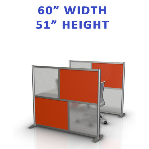 "60"" width by 51"" height office partitions product collection"