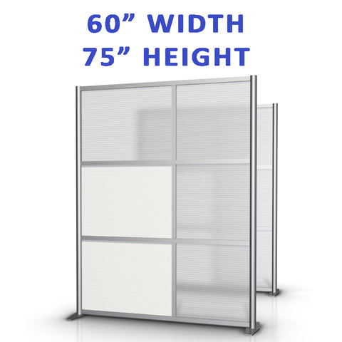 "60"" width office partitions product collection"