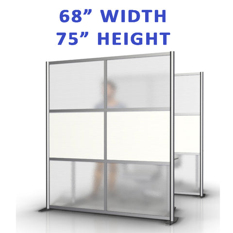 "68"" width by 75"" height office partitions products collection"